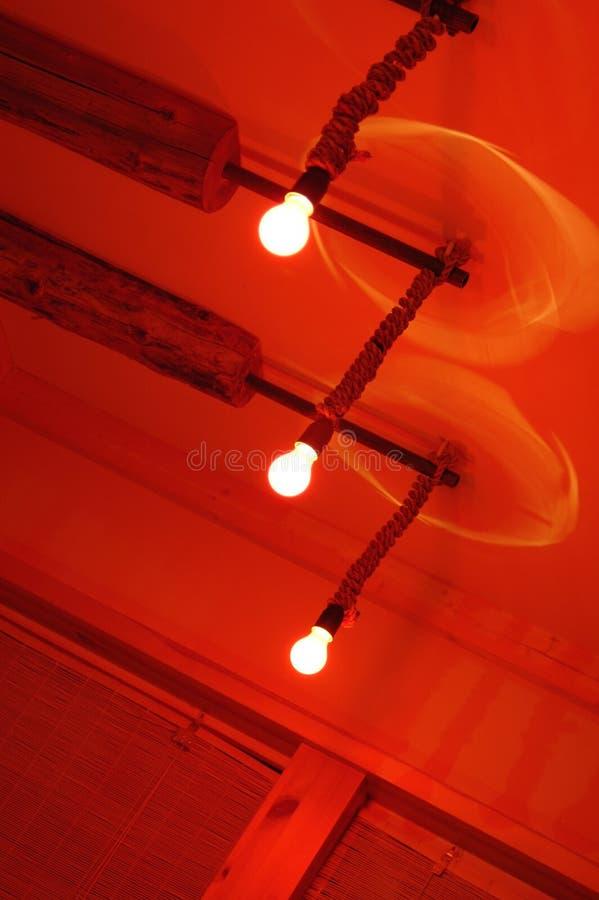 Três lâmpadas vermelhas foto de stock