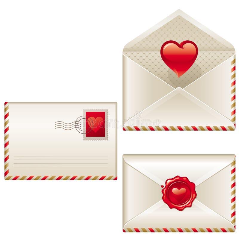 Três letras de amor ilustração royalty free