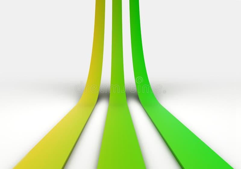 Três Linhas Verdes ilustração do vetor