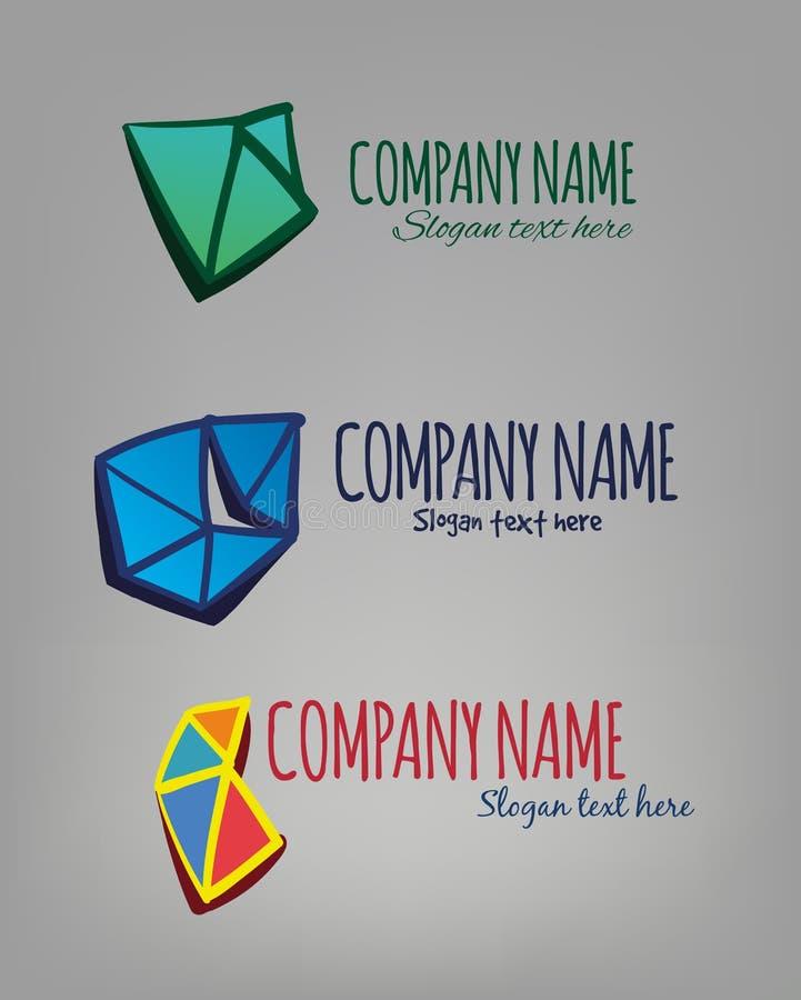 Três logotipos mergulhados do vetor ilustração stock