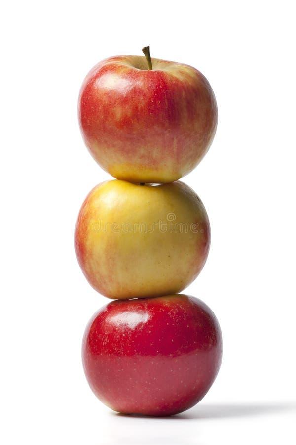 Três maçãs de Elstar imagem de stock royalty free
