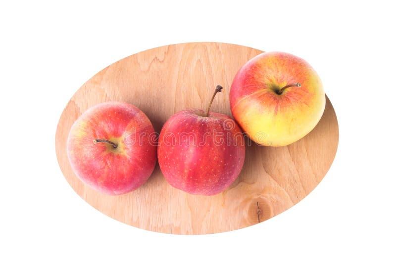 Três maçãs maduras imagens de stock royalty free