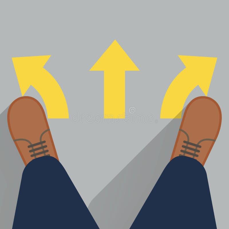 Três maneiras de escolher ilustração do vetor