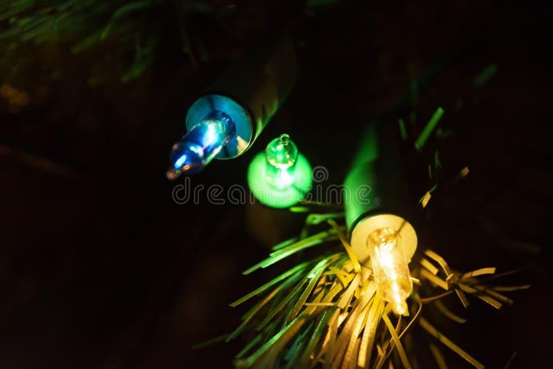 Três marcas coloridas de Natal mais claras fotos de stock