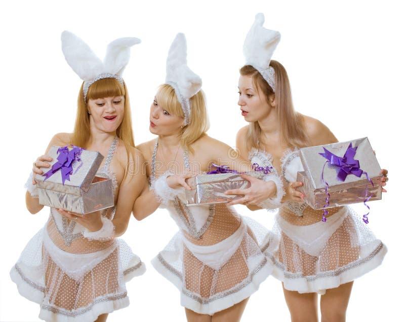 Três meninas fotos de stock
