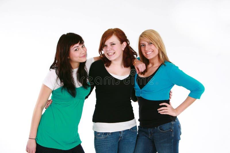 Três meninas adolescentes imagem de stock royalty free