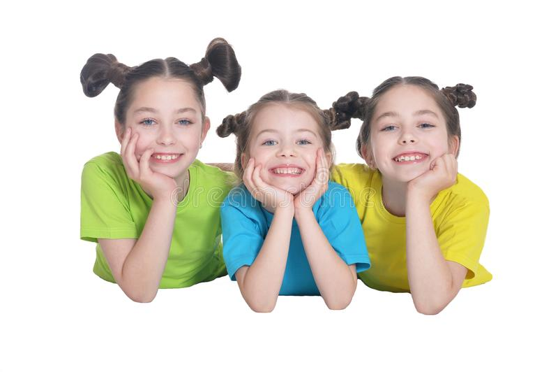 Três meninas bonitos foto de stock royalty free