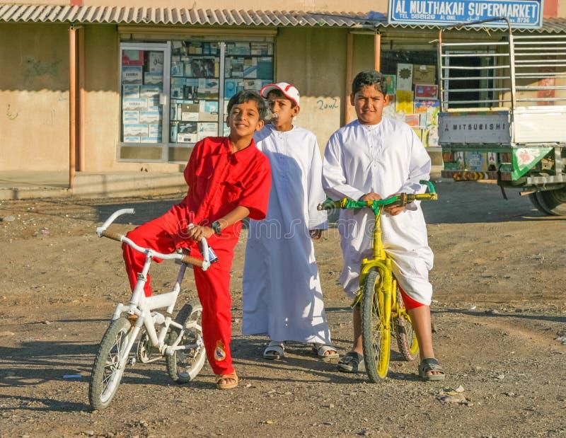 Três meninos árabes foto de stock royalty free