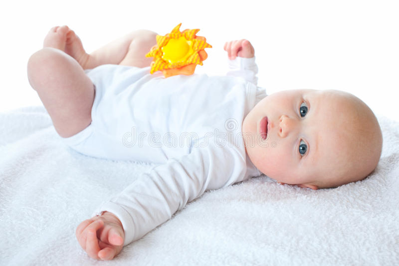 Três meses de bebê imagem de stock royalty free