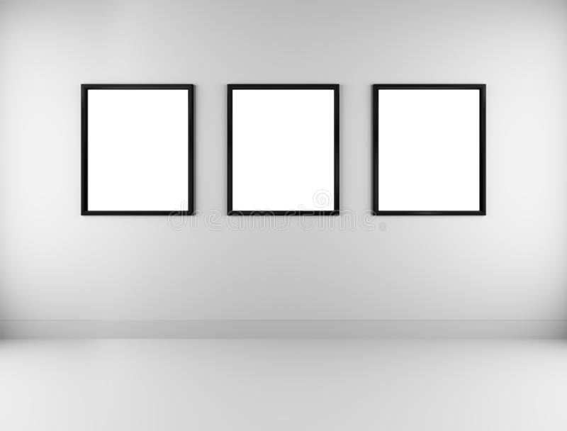 Três molduras para retrato vazias ilustração stock