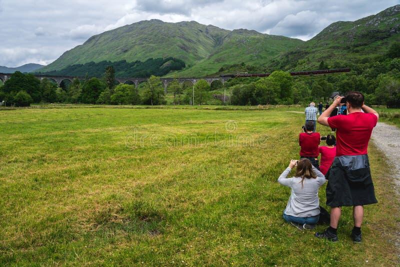 Três montanhas das irmãs no vale de Glancoe, Escócia, Reino Unido imagem de stock royalty free