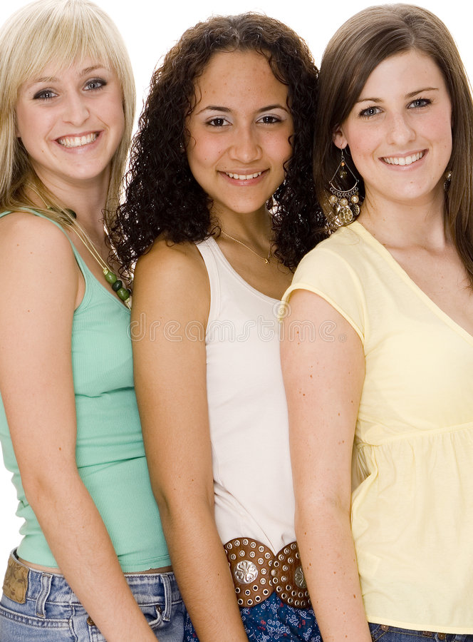 Três mulheres fotografia de stock royalty free