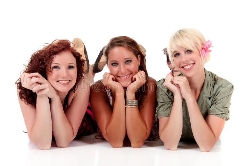 Três mulheres atrativas novas imagens de stock