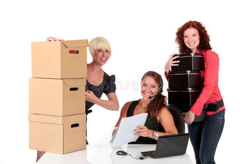Três mulheres de negócios bem sucedidas fotografia de stock royalty free