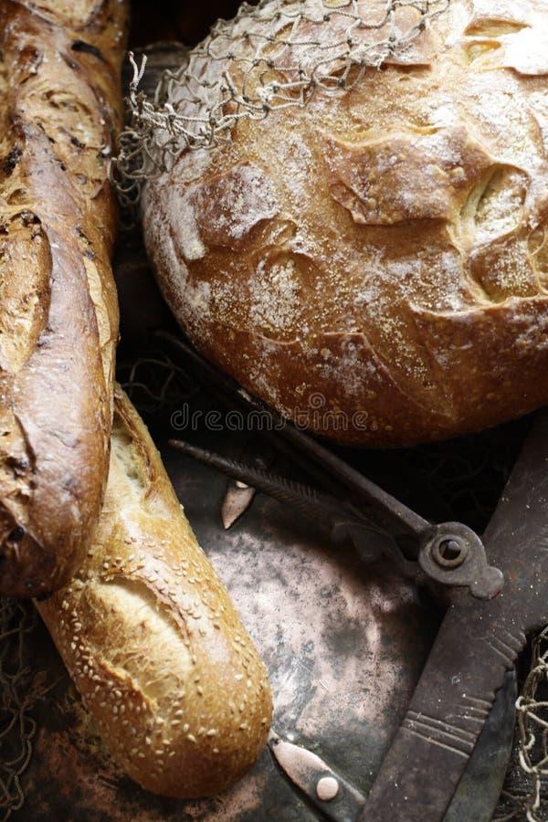 Três pães deliciosos junto fotos de stock royalty free