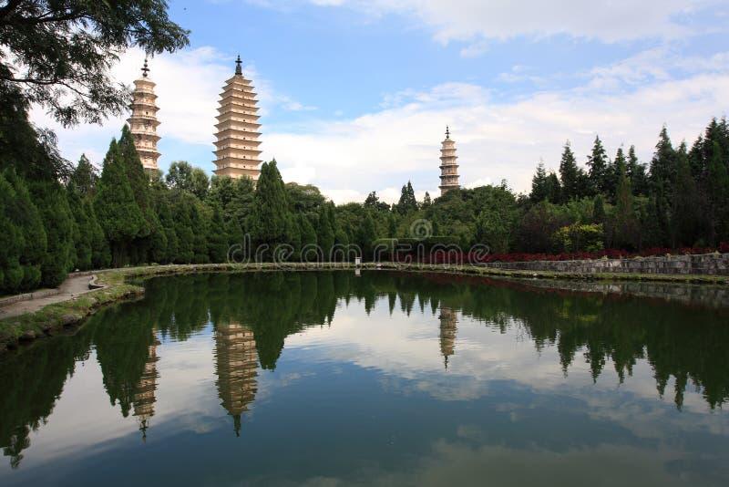 Três Pagodas fotos de stock