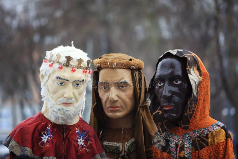 Três paradas dos reis em Kaunas, Lituânia foto de stock royalty free