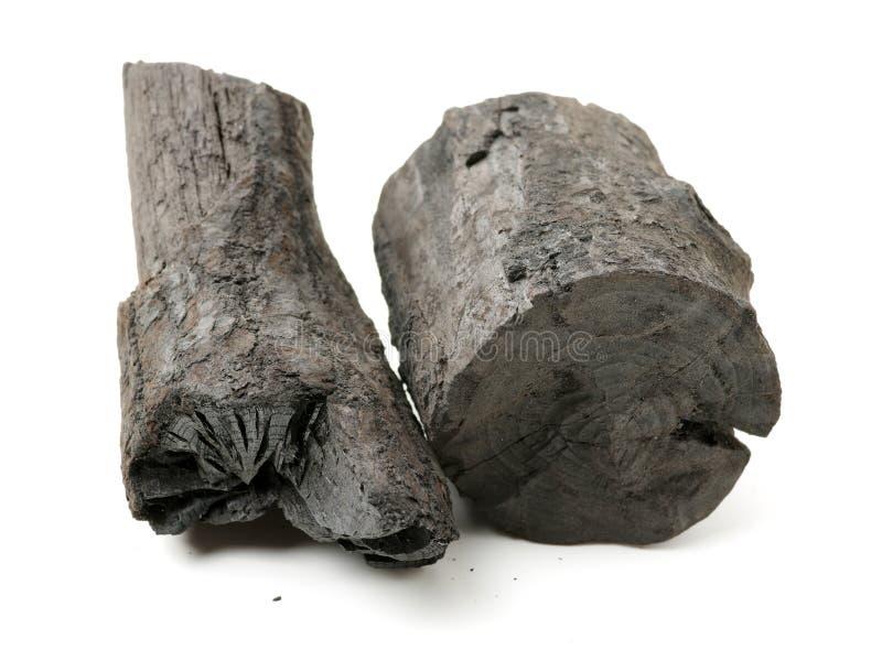 Três partes de carvão vegetal foto de stock royalty free