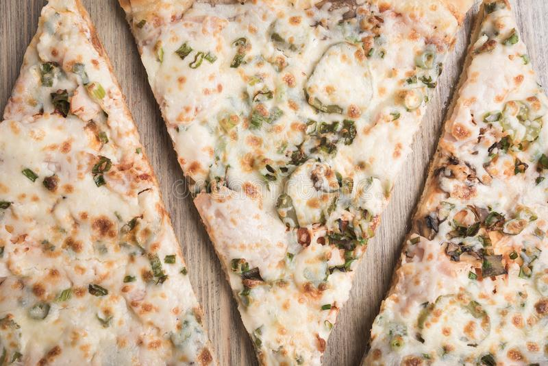 Três partes de pizza fotos de stock royalty free