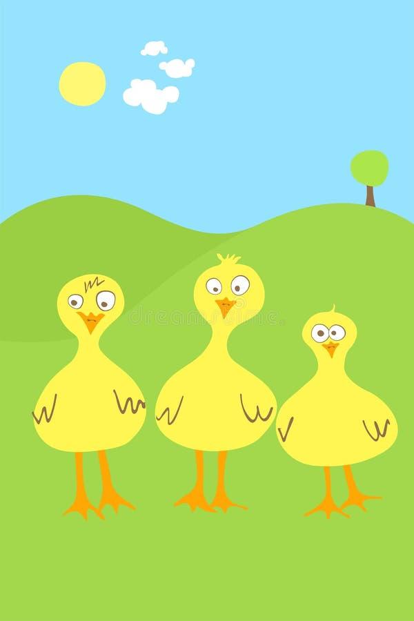 Três patos ilustração do vetor