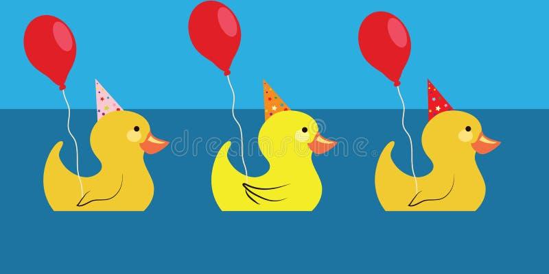 Três patos ilustração royalty free