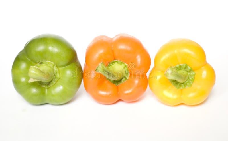 Três pimentas fotografia de stock