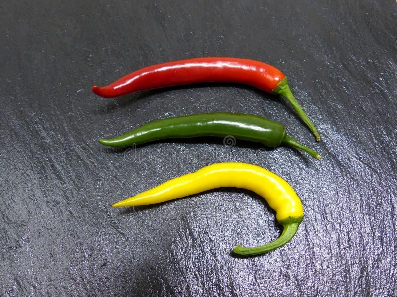 Pimentões vermelhos, verde, amarelo foto de stock royalty free
