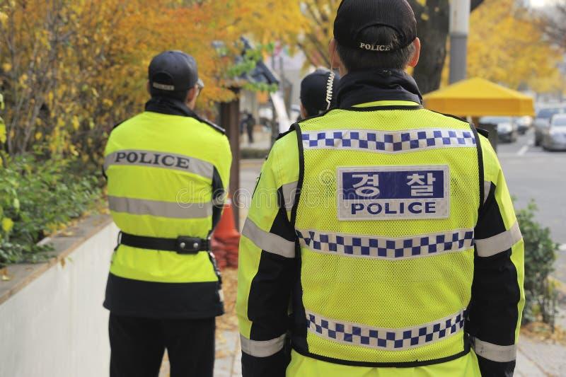 Três polícias fotografia de stock royalty free