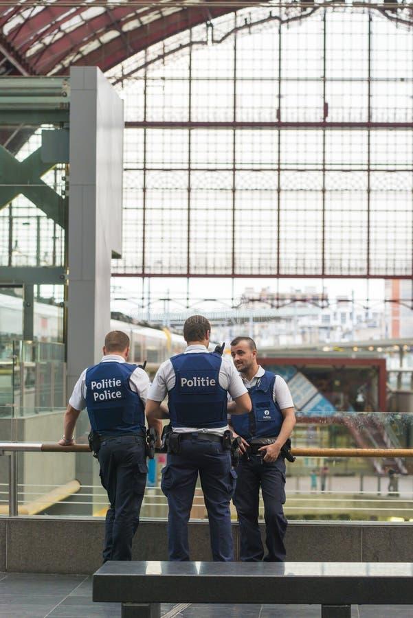 Três polícias fotos de stock royalty free