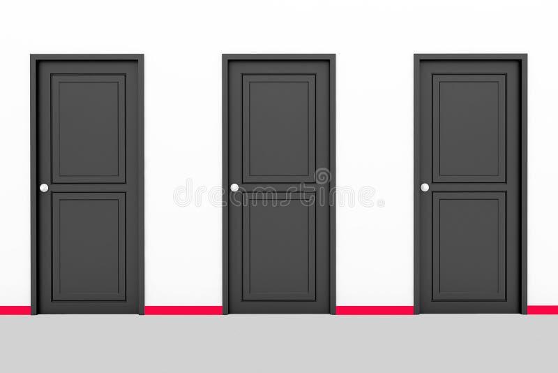 Três portas foto de stock