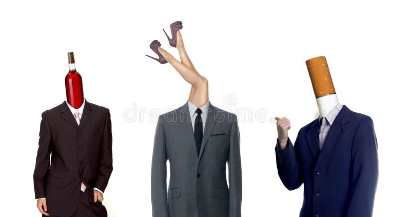 Três prazeres ilustração do vetor