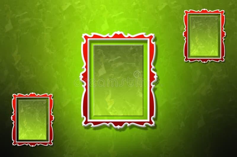 Três quadros abstratos da parede ilustração stock