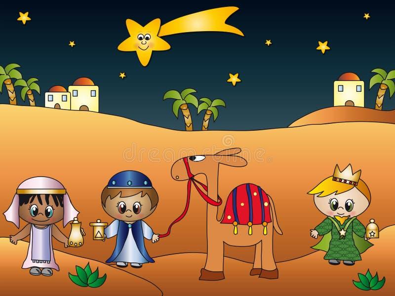 Três reis ilustração stock