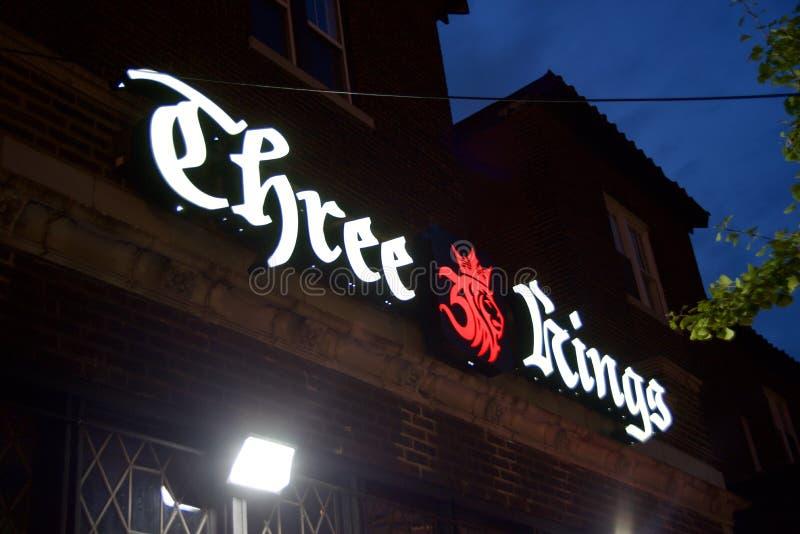 Três reis Bar e restaurantes, St Louis Missouri imagem de stock royalty free