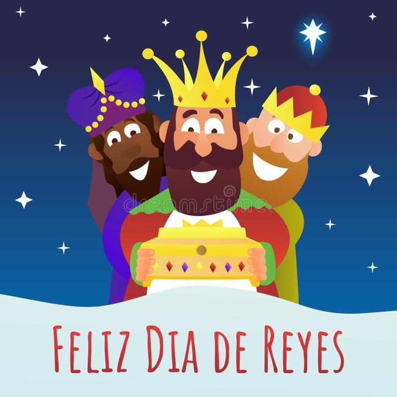Três reis Dia do esmagamento ilustração royalty free