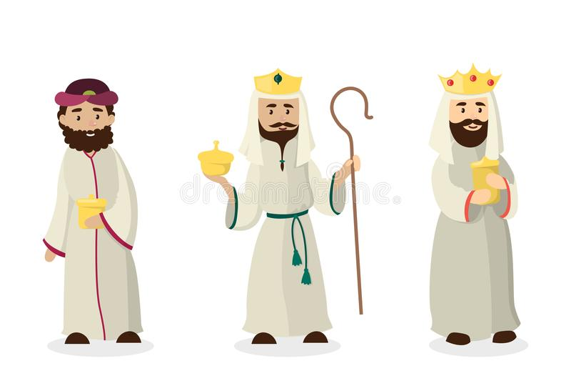 Três reis dos magi ilustração royalty free