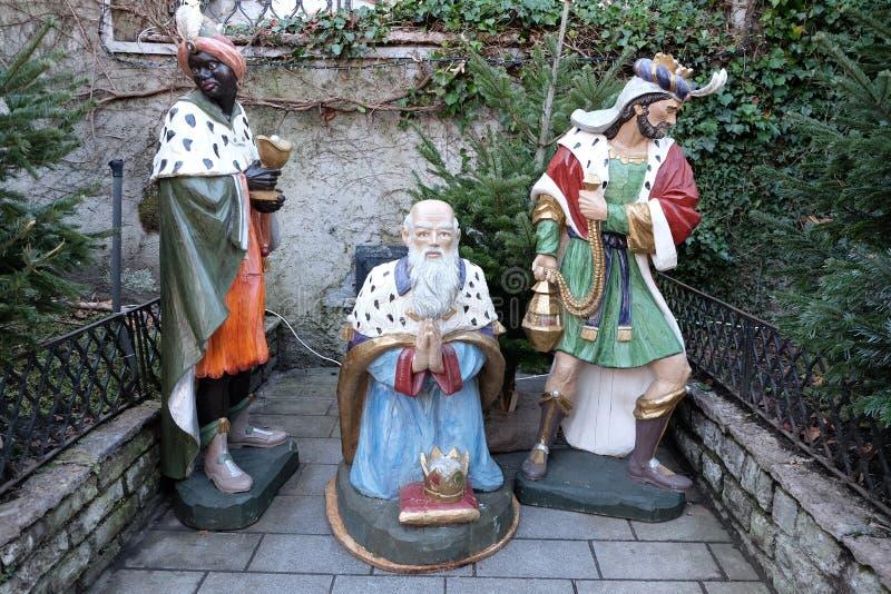 Três Reis Magos bíblicos imagens de stock royalty free