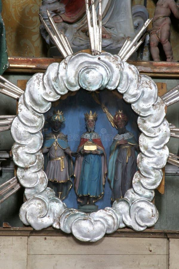 Três Reis Magos bíblicos fotografia de stock royalty free
