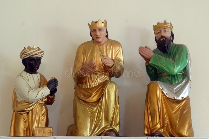Três Reis Magos bíblicos foto de stock