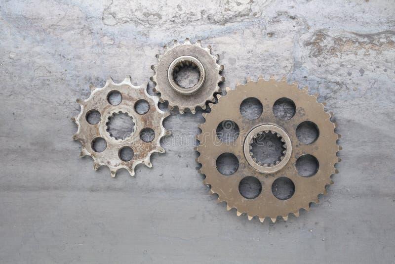 Três rodas denteadas foto de stock royalty free