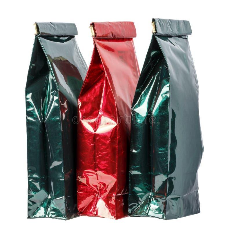 Três sacos de papel fotografia de stock
