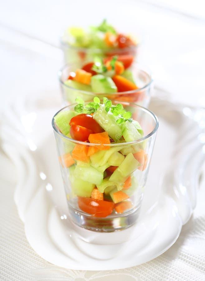Três saladas pequenas imagens de stock royalty free