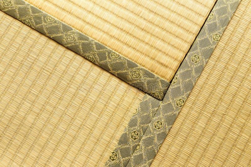 Três seções do tatami, esteira tradicional japonesa do assoalho da sala, l fotos de stock