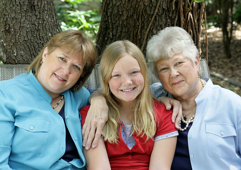 Três senhoras felizes fotos de stock