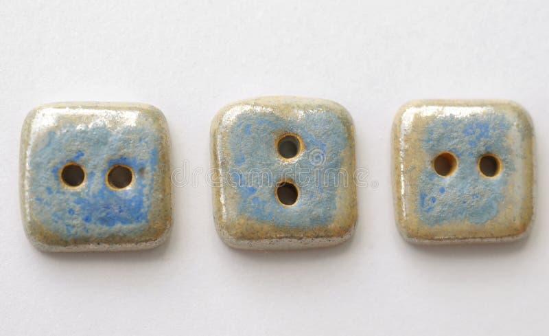 Três teclas azuis fotos de stock