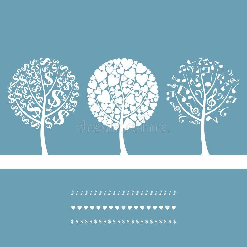 Três trees3 ilustração stock