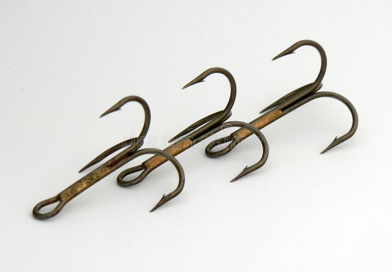 Três triplo-ganchos foto de stock royalty free