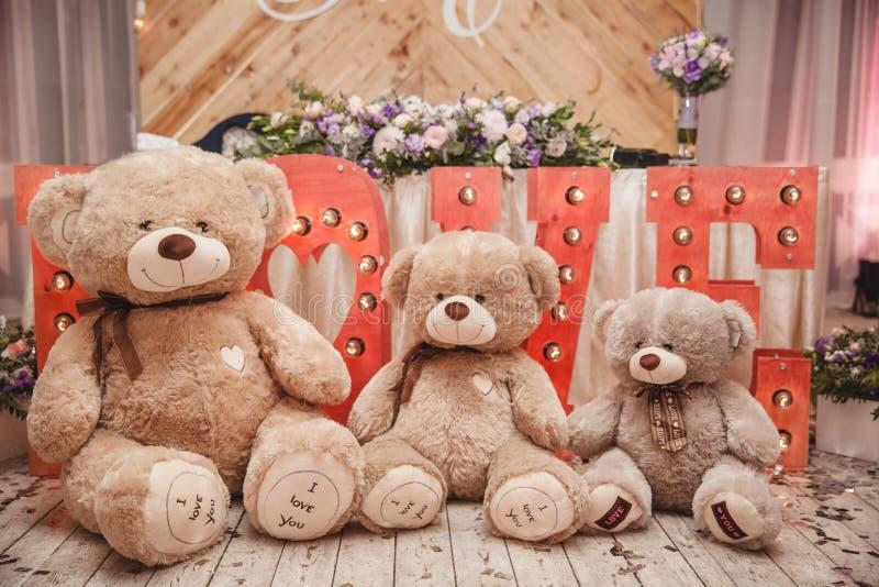 Três ursos fotos de stock