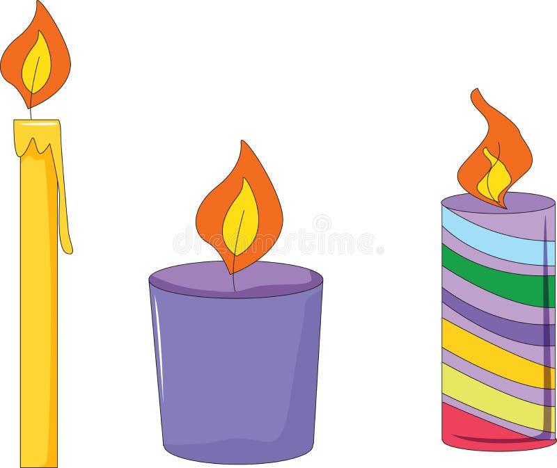 Três velas ilustração do vetor