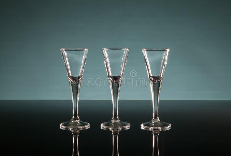 Três vidros de tiro foto de stock